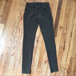 ZARA w&b collection olive green pants